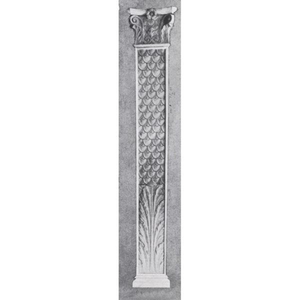 Pilaster Fish Scales  #P-8748