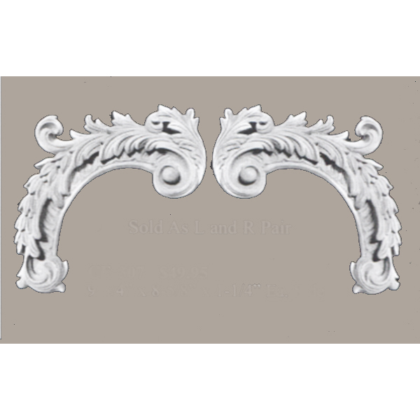Wall Panel Pair Acanthus C Curve corner elements